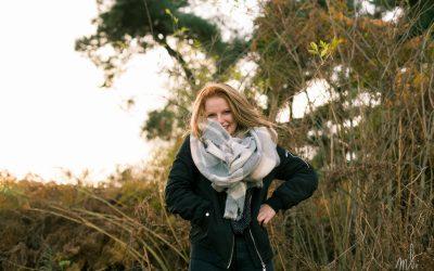 F, séance portrait à l'automne